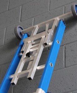 MG-ACCÈS shop klimmateriaal - ladders accessoires - wand en afstandhouder - Ladderafhouder X-max Ongecoat opklapt